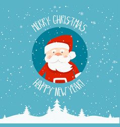 cartoon for holiday theme with santa claus on vector image