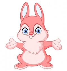 cheerful bunny vector image