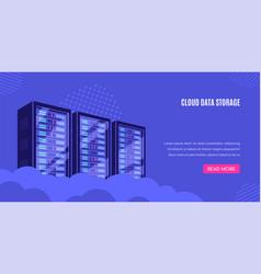 cloud server vector image