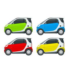 Compact smart car small compact hybrid vector