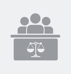 courtroom table and people vector image