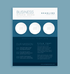 creative blue brand brochure template vector image vector image