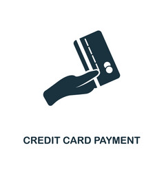 credit card payment icon line style icon design vector image