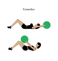 crunches exercise workout vector image