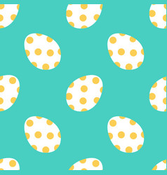 cute colorful easter eggs seamless pattern vector image