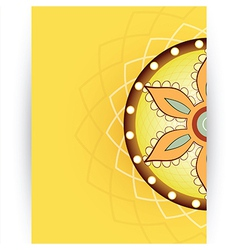 Decorative card vector image
