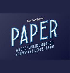 decorative vintage paper craft typeface font vector image