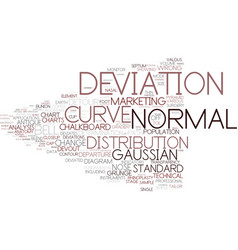 Deviation word cloud concept vector