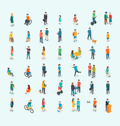 different isomeric people set vector image