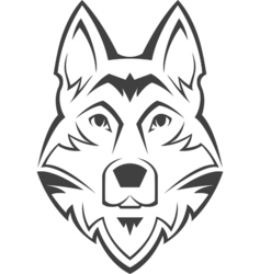 Dog head symbol vector image