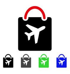 Duty free bag flat icon vector