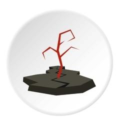 Earthquake icon flat style vector