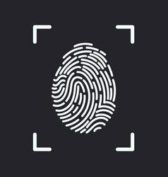 editable line fingerprint scan icon vector image