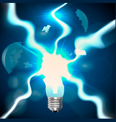 explosion of light bulbs vector image