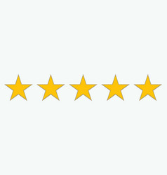 Flat icons for reviews five-star customer vector