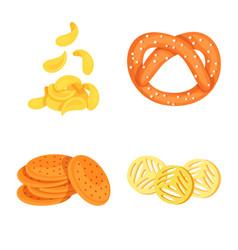 Food and crunchy logo set vector