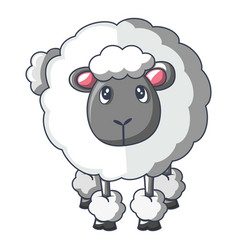 Front of sheep icon cartoon style vector