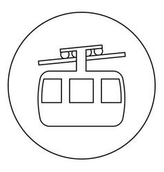 Funicular air way cable car ski lift mountain vector