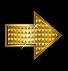 golden arrowhead vector image
