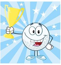 Golf tournament winner vector