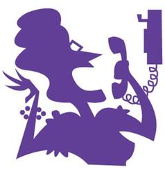 Gossip silhouette vector image