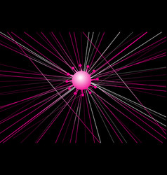 graphics virus on a dark background vector image