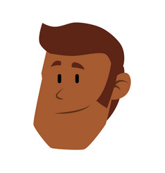 Guy face cartoon vector
