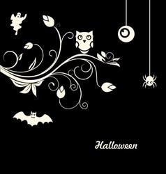 Halloween Flourish Dark Background vector image