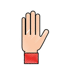 hand showing five finger gesture icon vector image