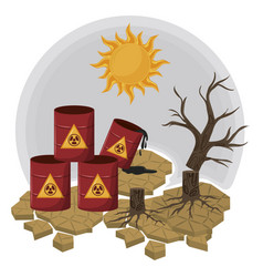 Hazardous waste and dead tree vector