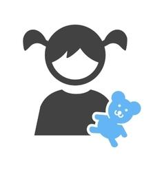 Holding Teddy Bear vector image