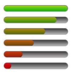 Horizontal progress loading bars to progression vector
