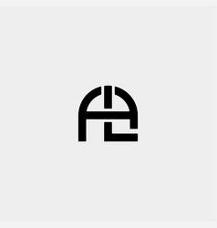 Letter al la a l monogram logo design minimal icon vector