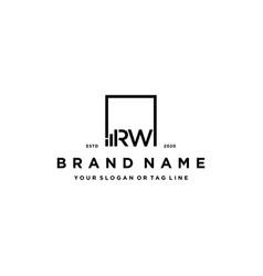 Letter rw square logo finance design vector