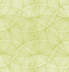 Lime color seamless wired swirl fractal pattern vector