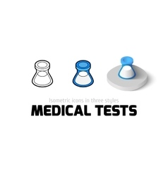 Medical tests icon in different style vector image