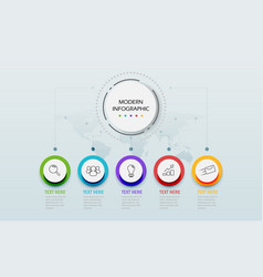Modern abstract 3d infographic template business vector