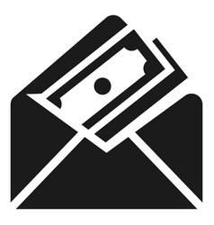 money envelope icon simple style vector image