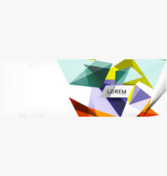 mosaic triangular low poly style abstract vector image