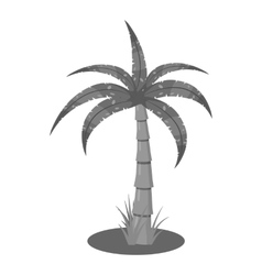 Palm icon gray monochrome style vector
