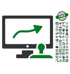 Path Control Monitor Icon With Bonus vector