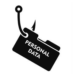 Phishing personal data icon simple style vector