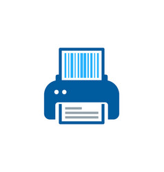 Print barcode logo icon design vector