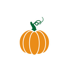 pumpkin icon design template isolated vector image
