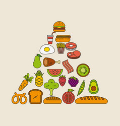 pyramid food vector image