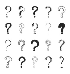 Question marks - hand drawn vector image