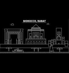 Rabat silhouette skyline morocco - rabat vector