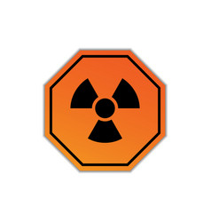 radiation warning sign isolated on white vector image
