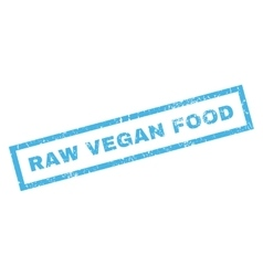Raw Vegan Food Rubber Stamp vector image