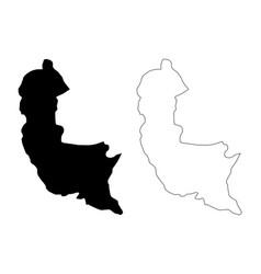 Sabaragamuwa province sri lanka map vector